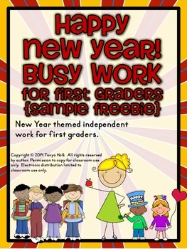 {FREEBIE} Happy New Year! Busy Work for First Graders