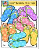 FREEBIE Happy Summer Flip Flops {P4 Clips Trioriginals Digital Clip Art}