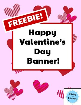 FREEBIE Happy Valentine's Day Banner