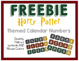 FREEBIE Harry Potter Themed Calendar Numbers