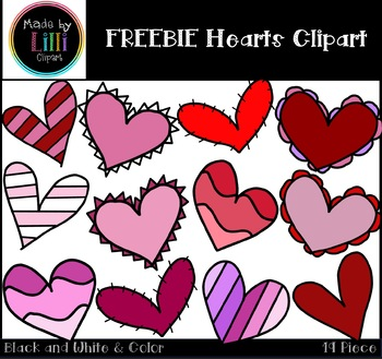 FREEBIE Hearts Clipart / Valentine's Day Clipart