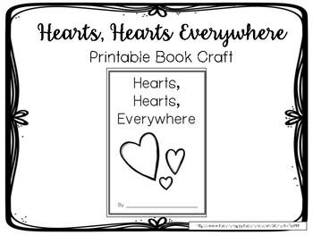 {FREEBIE!} Hearts Everywhere:  Printable Book Craft
