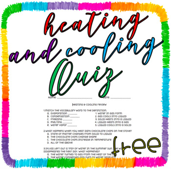 FREEBIE: Heating & Cooling Quiz