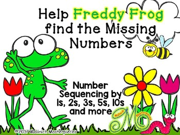 FREEBIE: Help Freddy Frog find the Missing Numbers – Number Sequencing