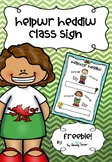 FREEBIE Helpwr Heddiw Sign / Welsh Helper Sign