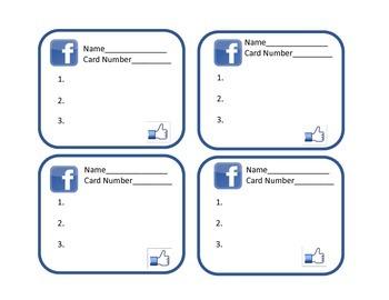 FREEBIE! Hink Pink Challenge Task Cards Grades 3-5 (Facebook Theme)