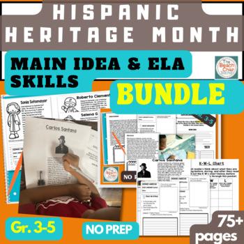 FREEBIE! Hispanic Heritage Month ELA Reading Sampler