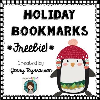 FREEBIE! Holiday Bookmarks!!!