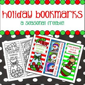 FREEBIE! Holiday Bookmarks