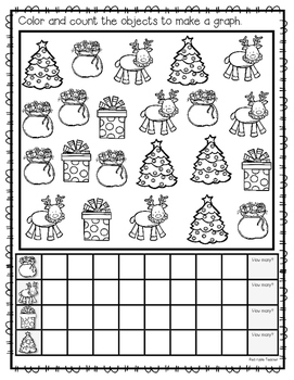 FREEBIE--Holiday Count & Graph for K-1