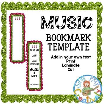 Freebie: Holiday Editable Bookmark