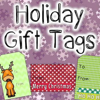 FREEBIE Holiday Gift Tags