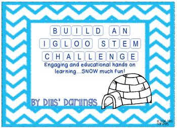 FREEBIE STEM Build an Igloo Winter Antarctica Project