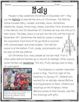 FREEBIE Holidays Around the World Close Read