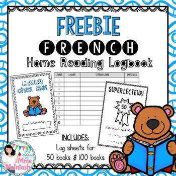 FREEBIE Home Reading Logbook - Livret pour la lecture chez moi