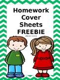 FREEBIE Homework Cover Sheets