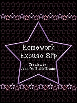 FREEBIE Homework Excuse Slips