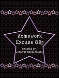 FREEBIE Homework Excuse Slips