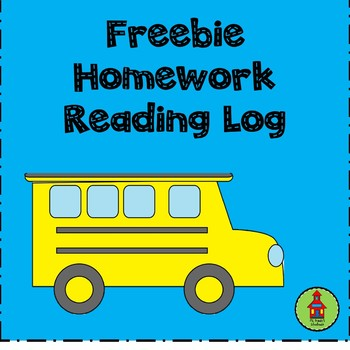 FREEBIE! Homework Reading Log
