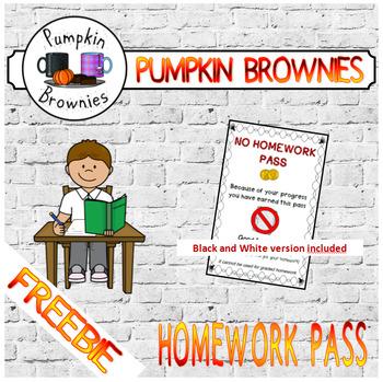 FREEBIE Homework pass