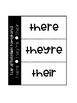 FREEBIE! Homophones - They're, Their, &There Foldable for Interactive Notebooks