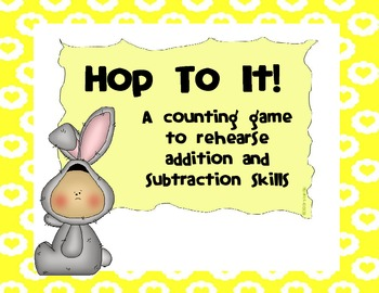 FREEBIE Hop To It Counting Game