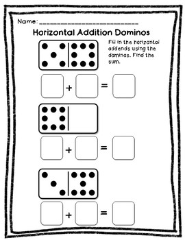 FREEBIE Horizontal and Vertical Addition to 20