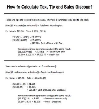 tax and tip worksheet worksheets for school leafsea. Black Bedroom Furniture Sets. Home Design Ideas