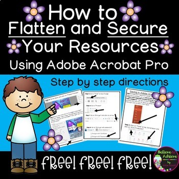 How to Flatten and Secure Documents in Adobe Acrobat Pro- FREE