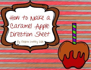 How to Make a Caramel Apple: Direction-Writing Sheet