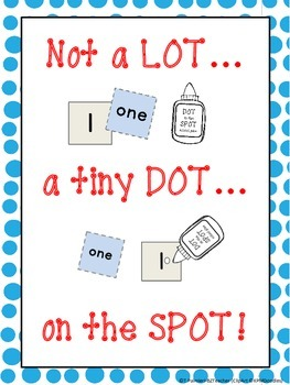 "FREEBIE! How to use GLUE - ""Not a LOT..."" Poster and Practice sheets"