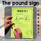 FREEBIE - How to write the pound sign