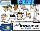 "FREEBIE ""Huck Finn"" Visual Character Map (With BONUS Clip-Art!)"