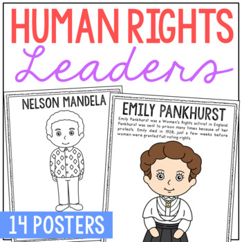 human rights leaders biography coloring pages easy history crafts
