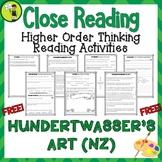 FREE Hundertwasser's Art (NZ) - Close Reading Text with Hi