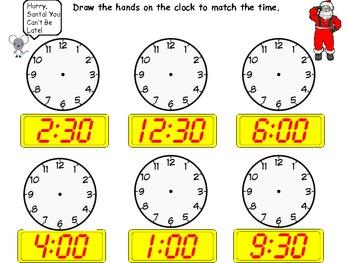 FREEBIE: Hurry, Santa! - Complete the Clocks Sheet!