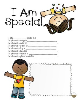 FREEBIE- I Am Special Questionnaire