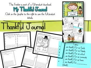 FREEBIE ~ I Am Thankful Lists ~ Thanksgiving ~ Gratitude ~ Giving Thanks