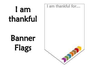 FREEBIE!!! - I Am Thankful - Thanksgiving Banner Flags