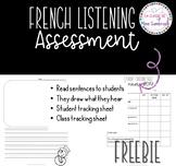 FREEBIE I French listening assessment