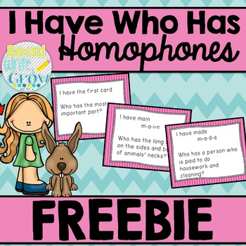 I Have, Who Has-Homophones {Words Their Way Within Word So