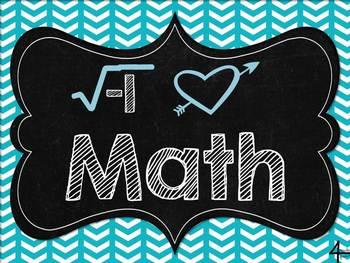 FREEBIE I Love Math Poster!