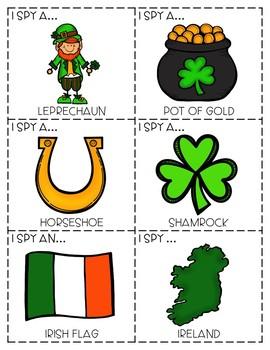 "{FREEBIE!!} ""I Spy"" Descriptive Language Game - St. Patrick's Day Edition"