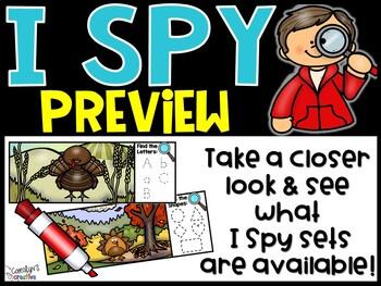 FREEBIE I Spy Preview - November Edition [Turkeys]