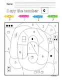 FREEBIE I Spy - Subitizing Puzzle/Color By Code Numbers 0-3