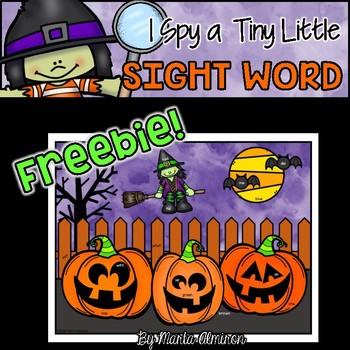 FREEBIE: I Spy a Tiny Little SIGHT WORD! {HALLOWEEN}