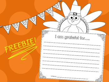 FREEBIE - I am grateful for.. Writing Prompt