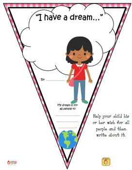 "FREEBIE ""I have a dream..."" Pennant Banner Worksheet"