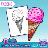 FREEBIE Ice Cream Cone Coloring Sheet {Doodle}