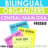 FREEBIE! Idea Principal / Main Idea Graphic Organizer!